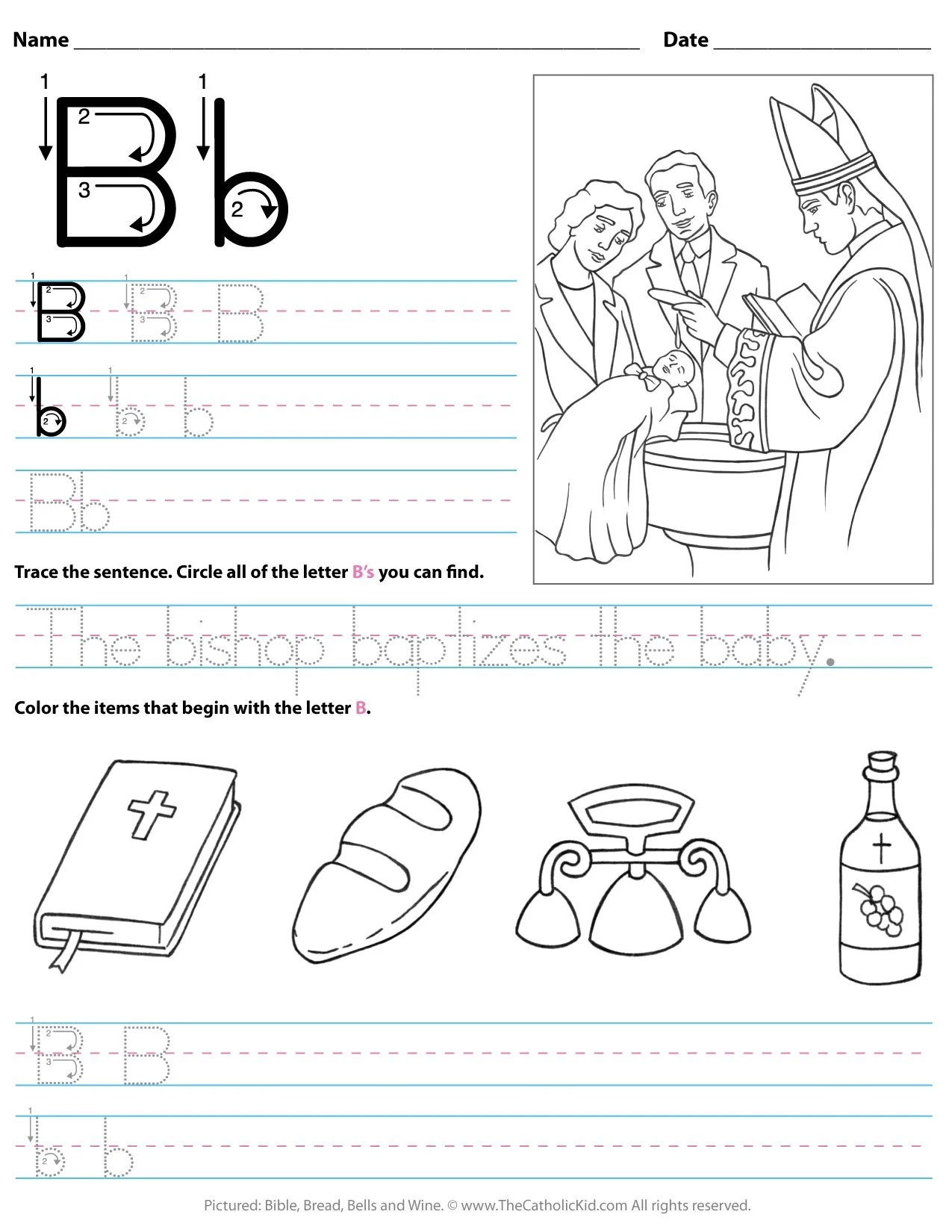 Worksheet For Kids Letter B Worksheet Preschool