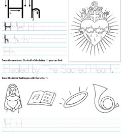 Catholic Alphabet Letter H Worksheet Preschool Kindergarten -  TheCatholicKid.com [ 1650 x 1275 Pixel ]