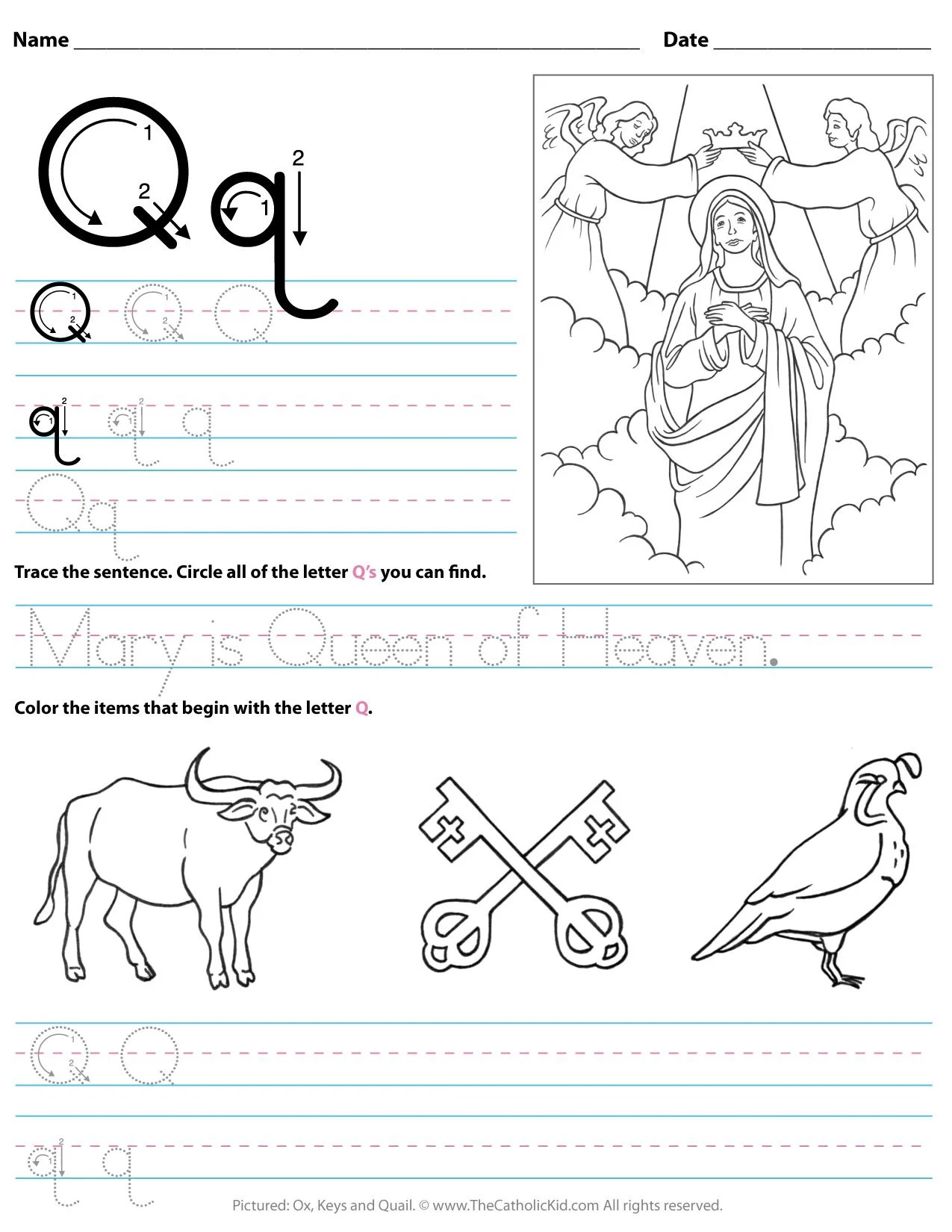 Preschool Worksheet Gallery Tracing Letter Q Worksheets