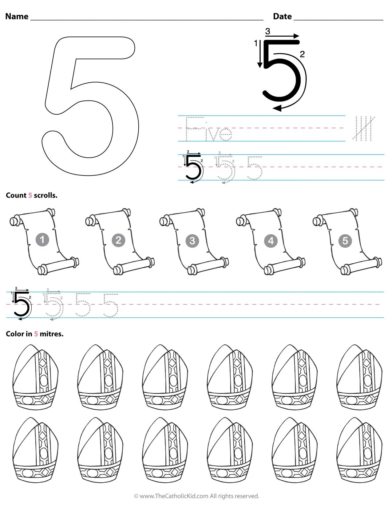 18 Preschool Kindergarten Color By Number Worksheets