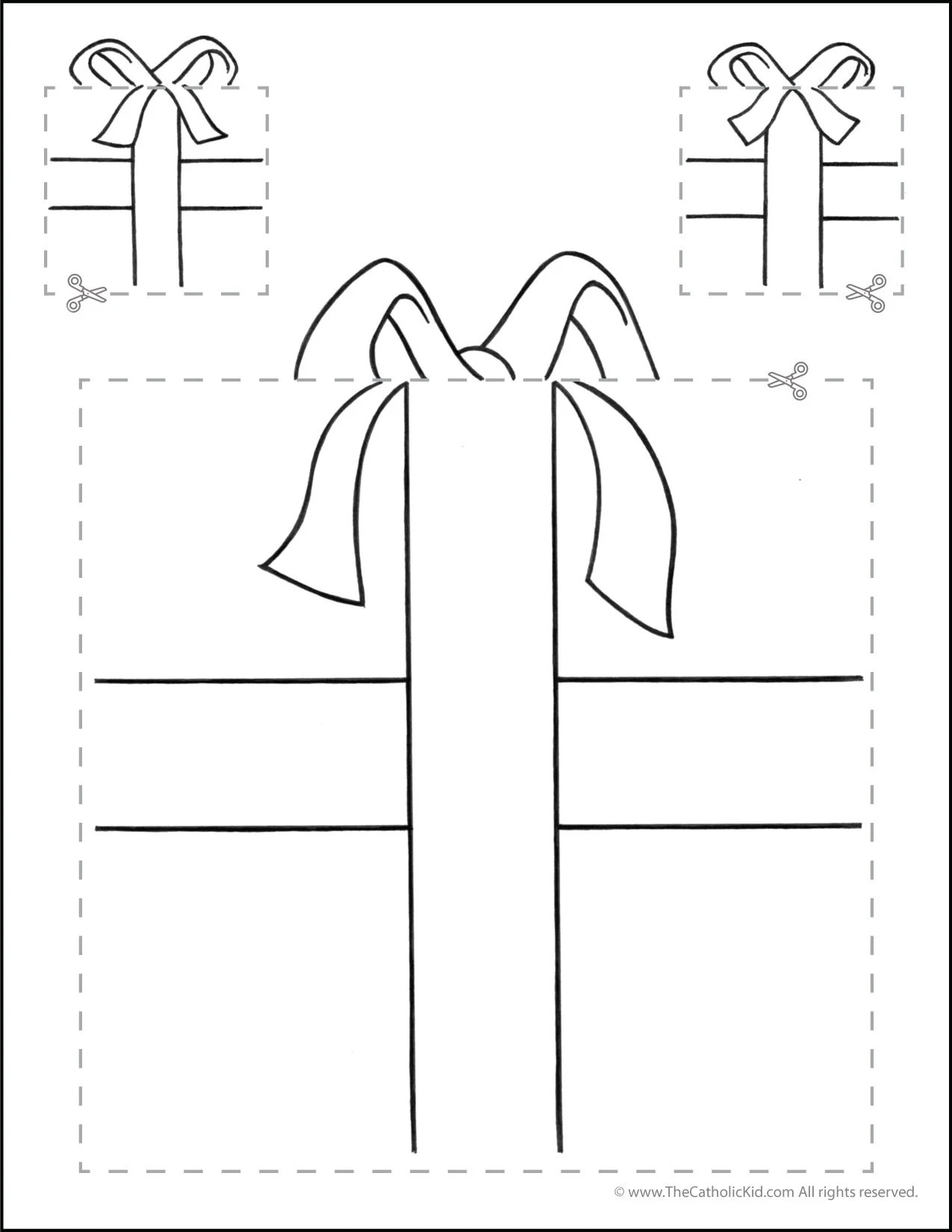 Catholic Cutting Worksheet Squares