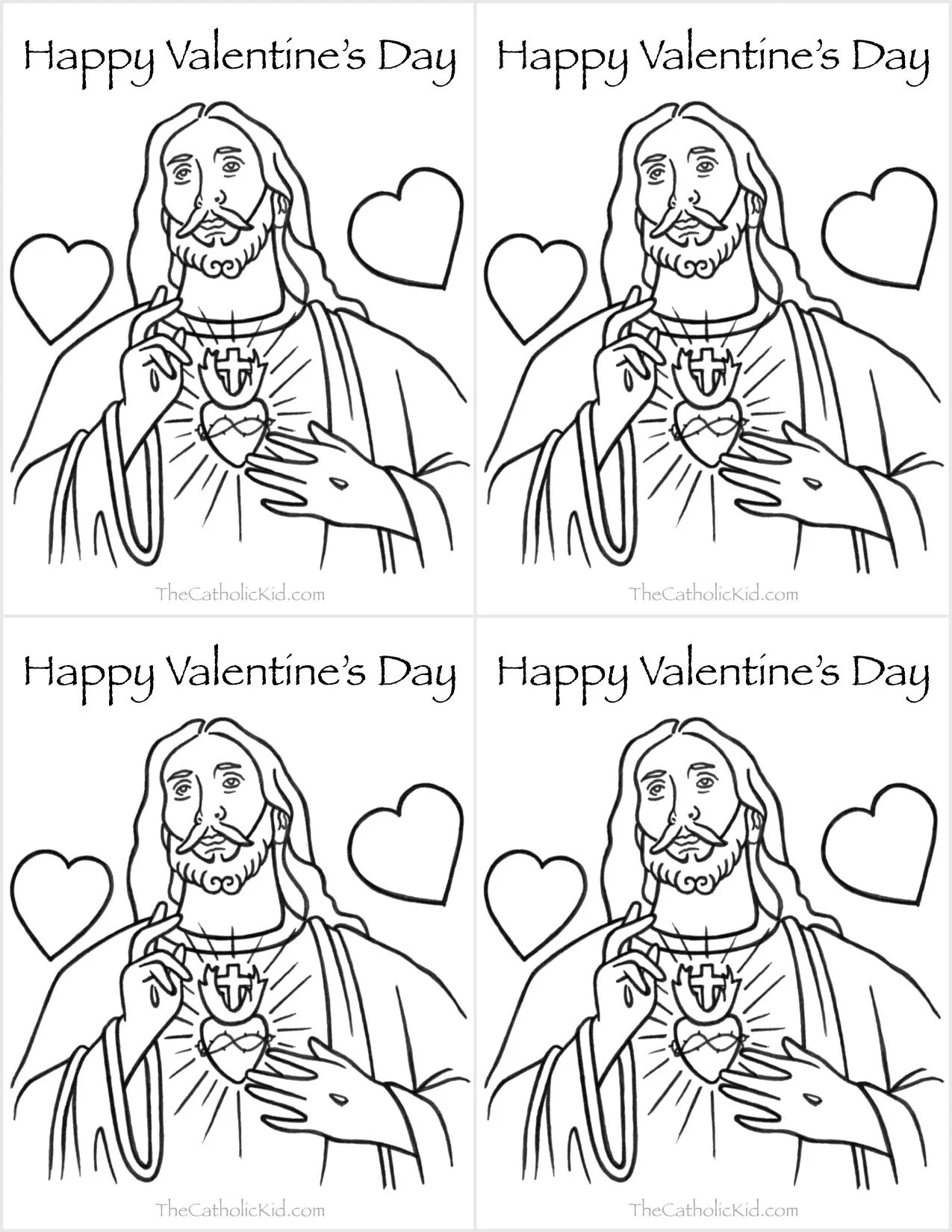 Saint Valentine Coloring Page