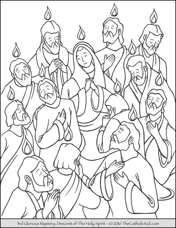 holy spirit coloring pages # 3
