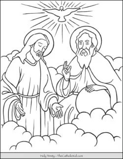 Holy Trinity Catholic Coloring Pages Coloring Pages