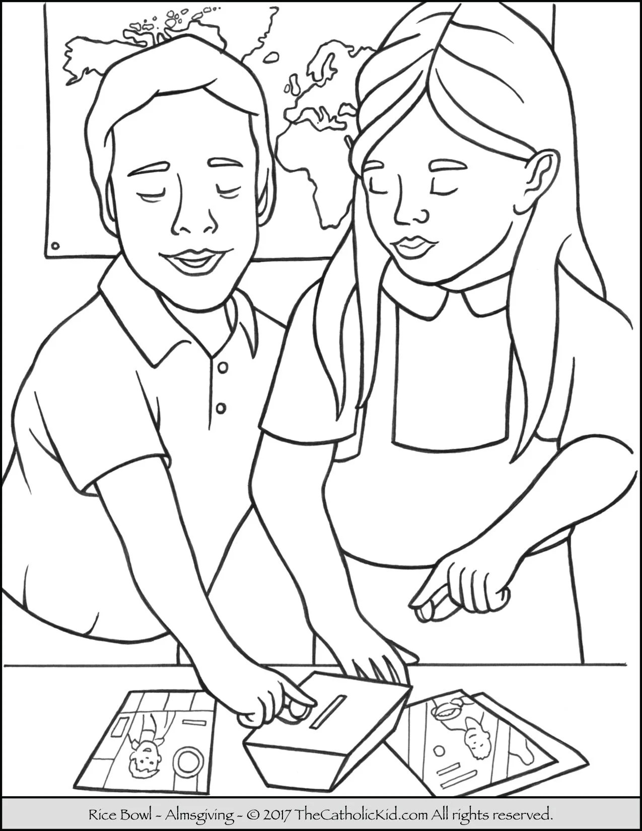 Rice Bowl Coloring Page