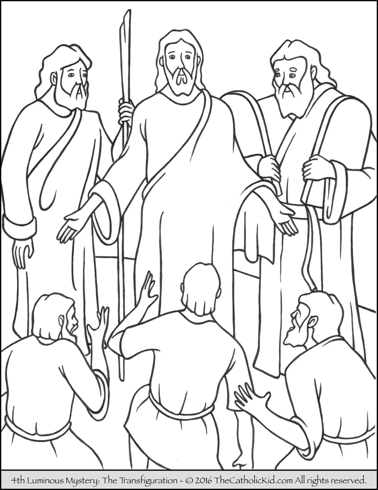 Luminous Mysteries Rosary Coloring Pages