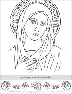 free printable catholic coloring