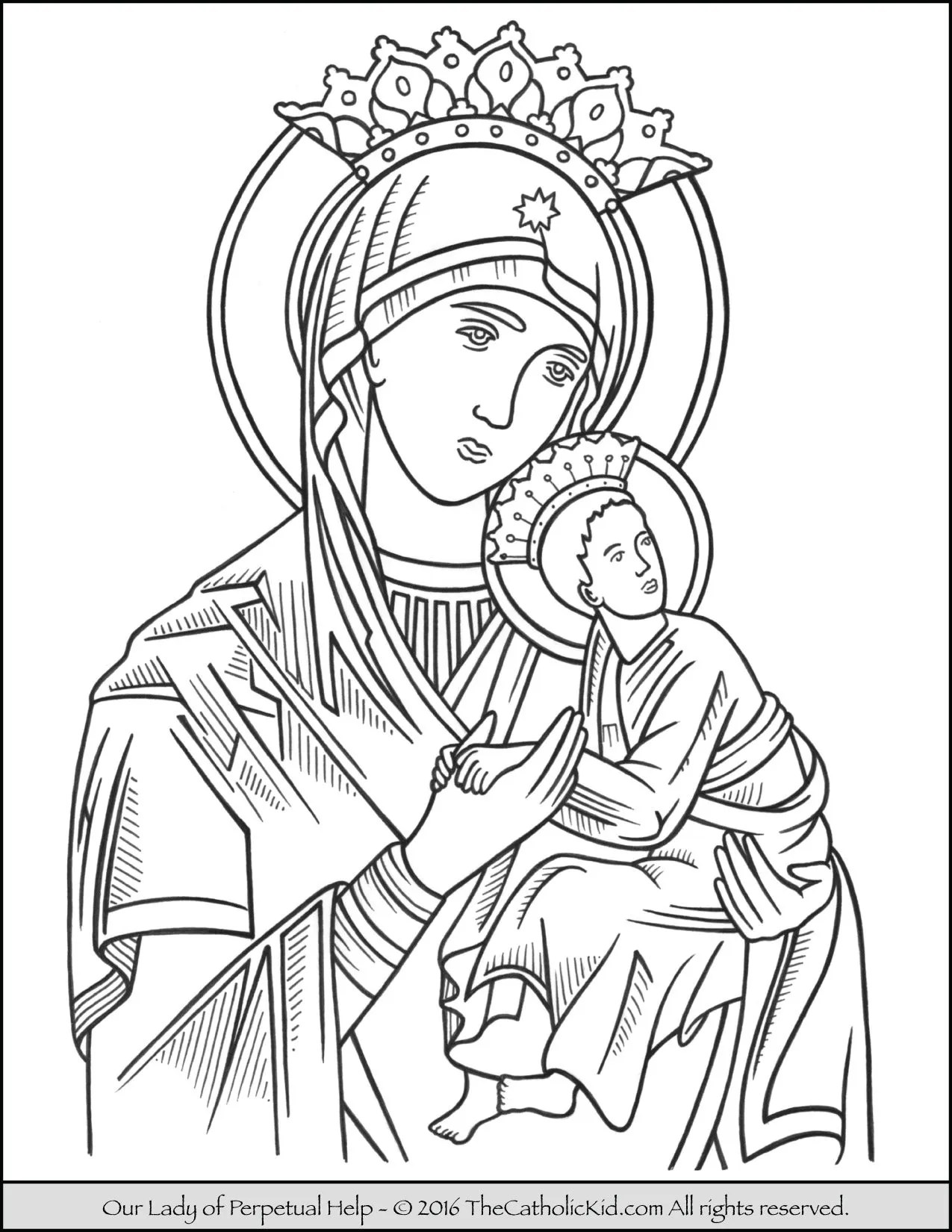 Our Lady Of Perpetual Help Coloring Page