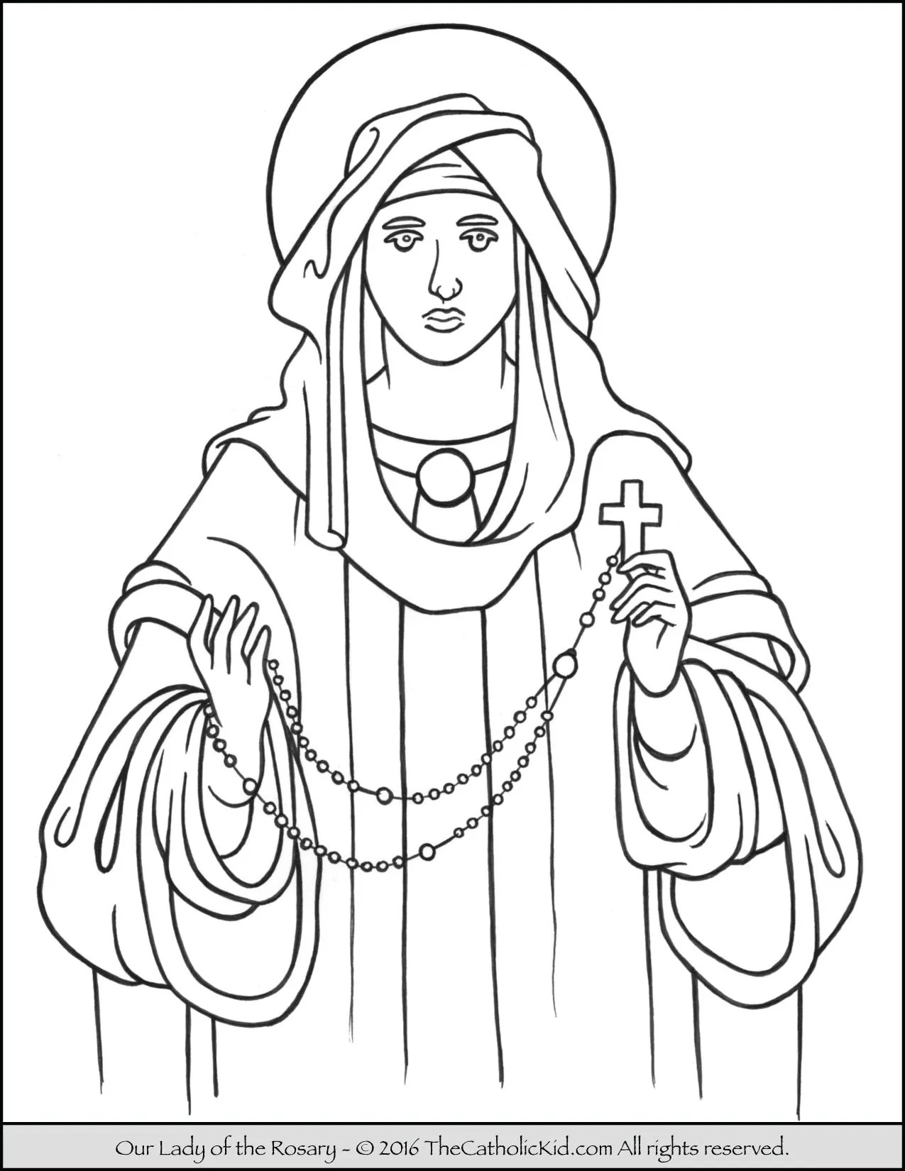 How To Pray The Rosary Coloring Page For Kids