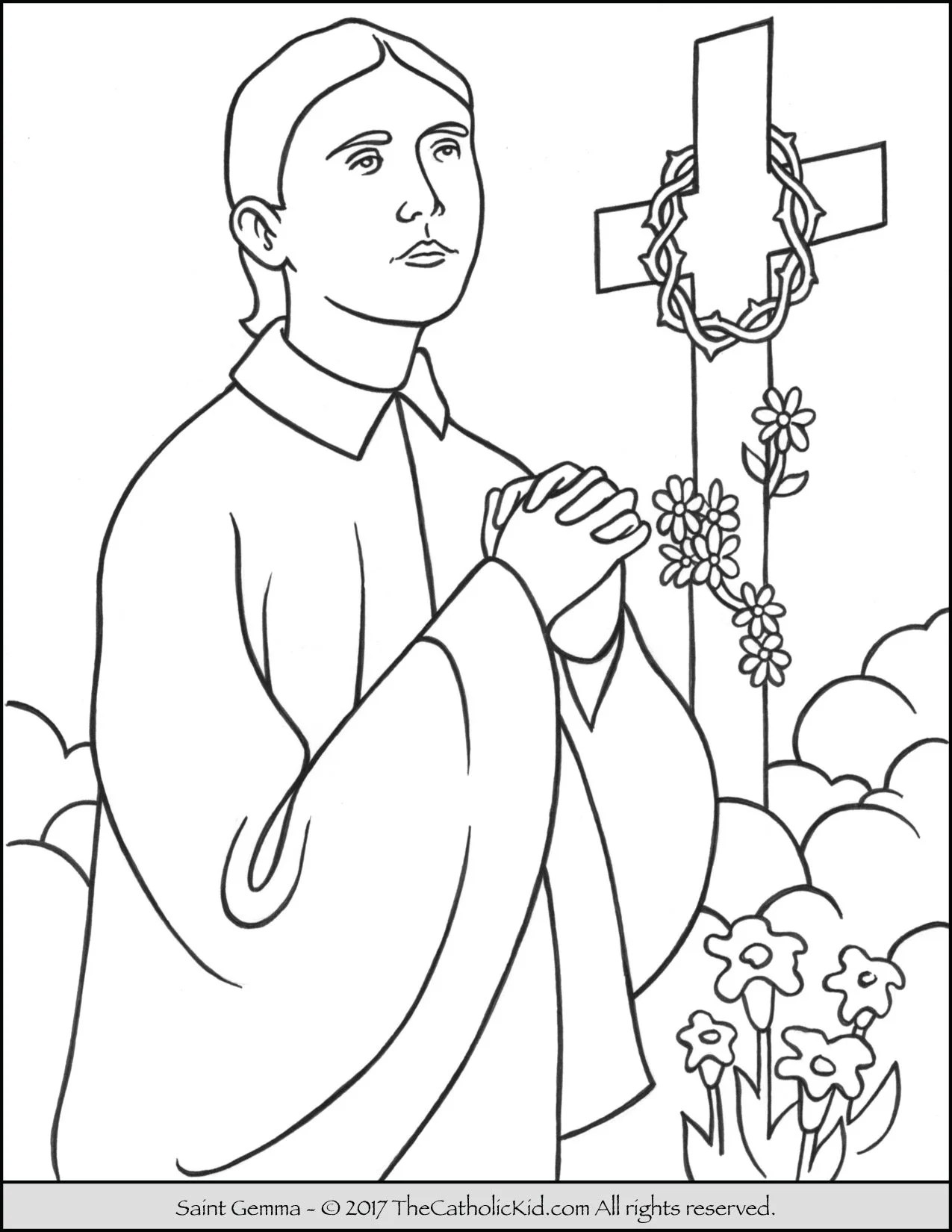Saint Coloring Pages Free Coloring Pages Download | Xsibe new ...