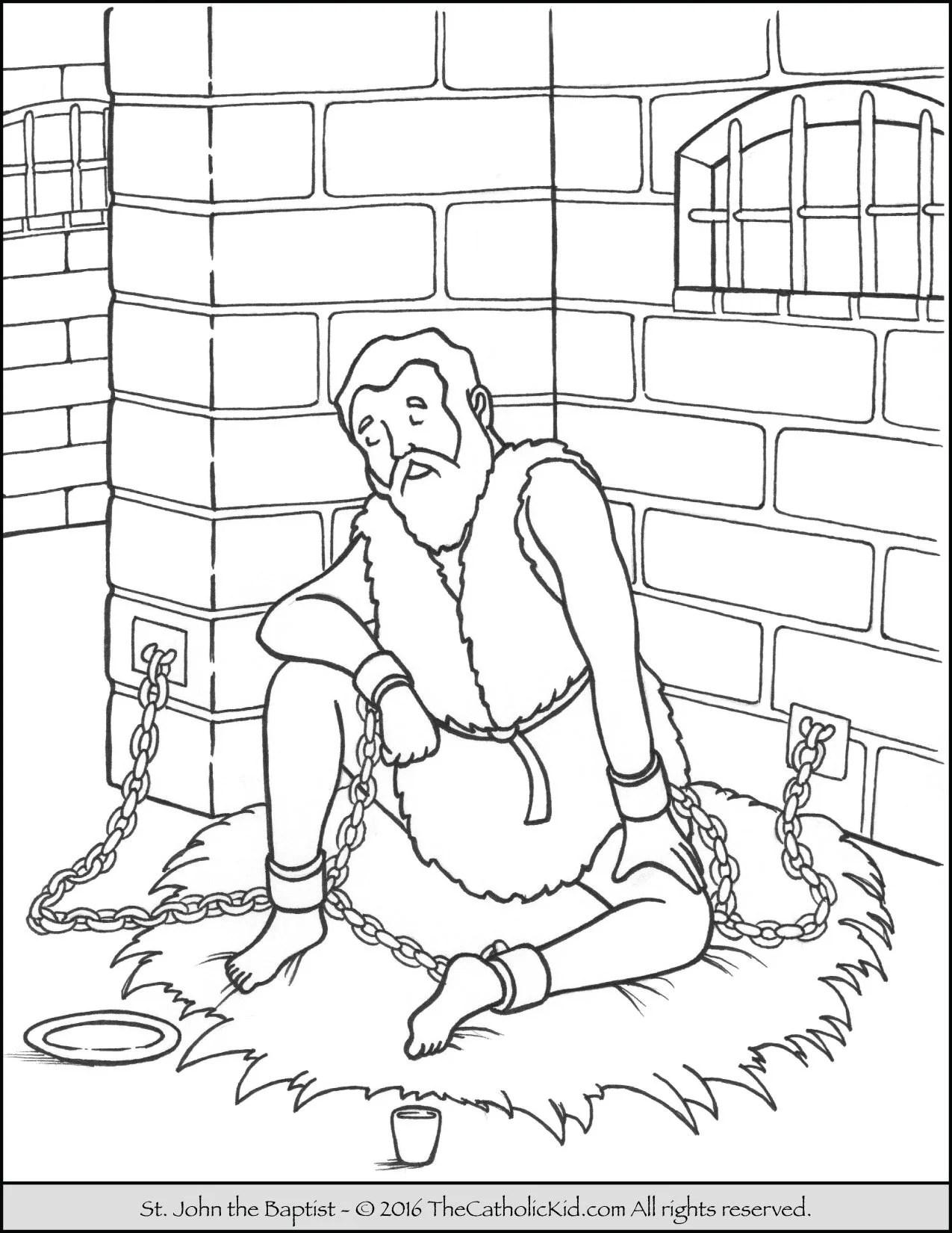 Saint John The Baptist Coloring Pages The Catholic Kid