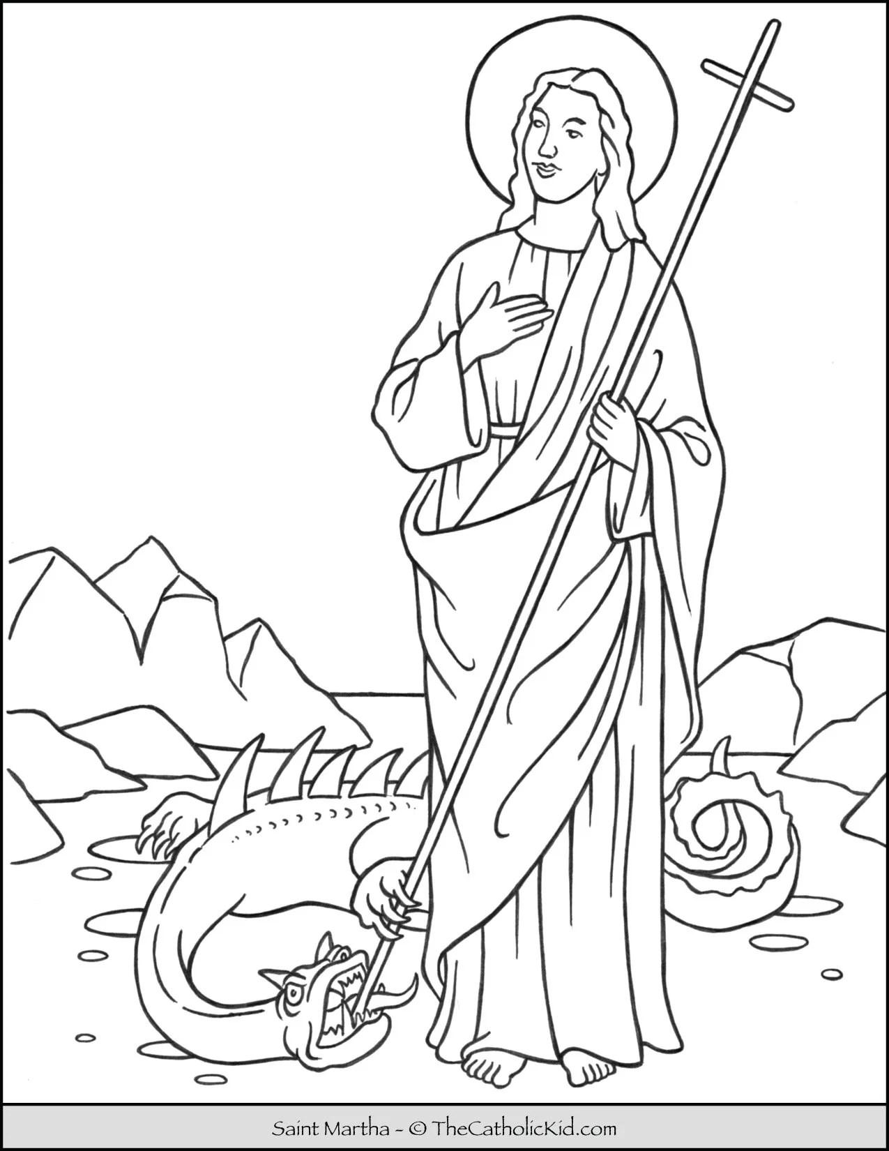 Saint Martha Coloring Page