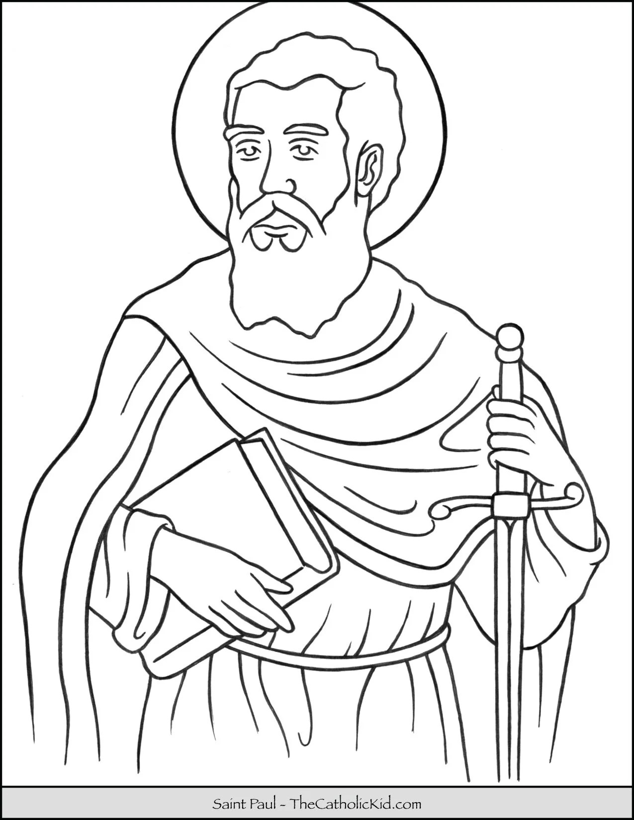 Saint Paul Coloring Page