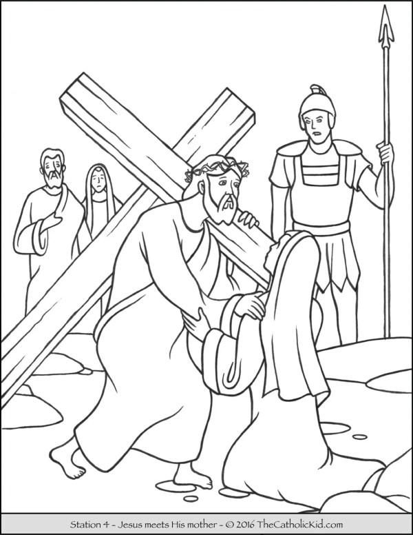 jesus on the cross coloring page # 13