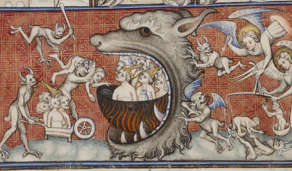 Medieval Art Painting Demons