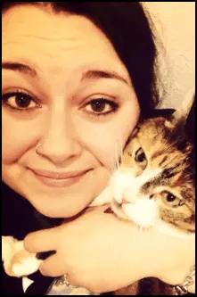 Chelsy Ranard and her cat