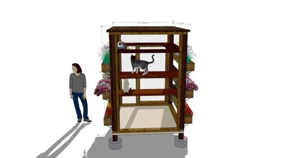 vertical garden catio design