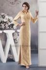 Gold Long Sleeve Formal Dresses