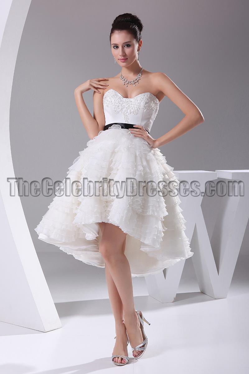 New Style ALine Hi Low Cocktail Short Wedding Dresses