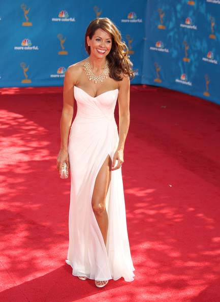 Brooke Burke White Evening Dress 62nd Emmy Awards