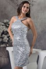 Silver Sequin Short Party Dresses