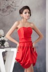 Short Red Strapless Homecoming Dress