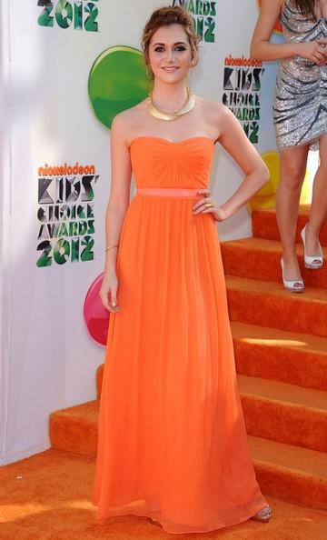 Alyson Stoner Orange Prom Dress Kids Choice Awards 2012