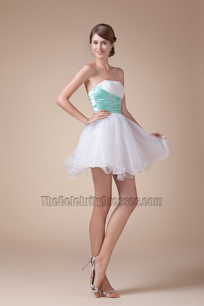 Cute Strapless Short Mini A Line Party Sweet 16 Dresses