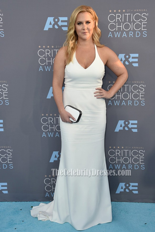 Amy Schumer Critics Choice Awards 2016 Red Carpet White