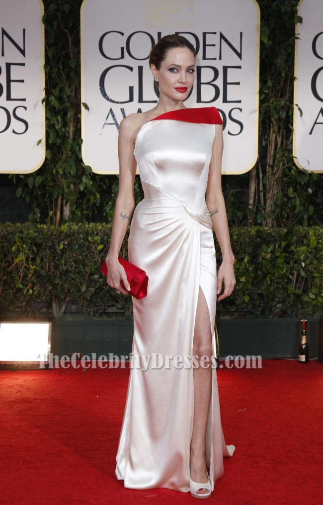 Angelina Jolie One Shoulder Prom Dress Evening Gown 2012