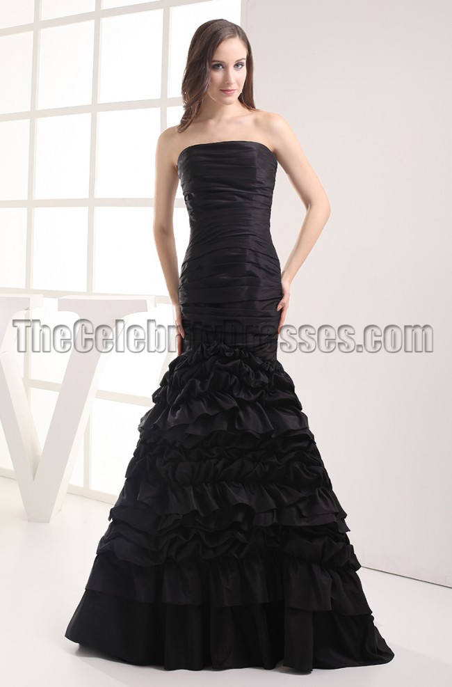 Gorgeous Black Strapless Mermaid Formal Dress Prom Gown  TheCelebrityDresses