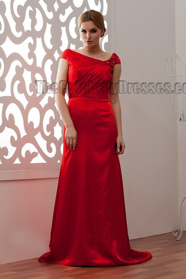 Discount SheathColumn Red Prom Gowns Evening Dress