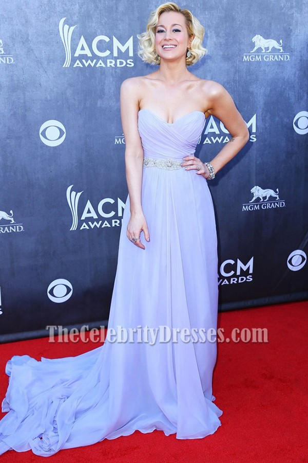 Kellie Pickler Lavender Prom Dress 49th Annual Academy of Country Music Awards  TheCelebrityDresses