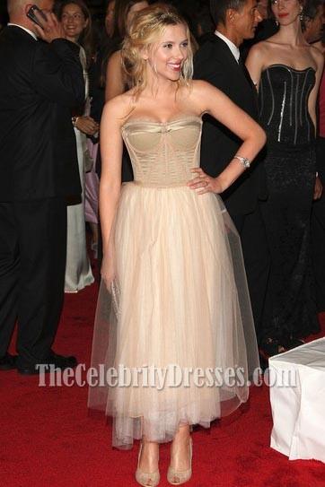 Scarlett Johansson Prom Cocktail Dress Costume Institute Gala 2008 Red Carpet  TheCelebrityDresses