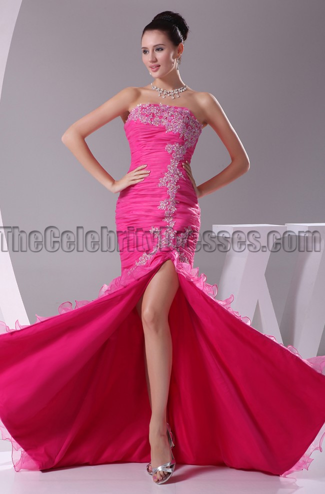 Fuchsia Strapless Mermaid Formal Dress Evening Gown  TheCelebrityDresses