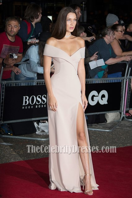 Bella Hadid Sexy Offshoulder Evening Prom Gown GQ Model of the Year Award TCD6773