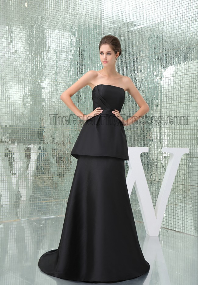 Celebrity Inspired Black Strapless Formal Dress Prom Evening Gown  TheCelebrityDresses