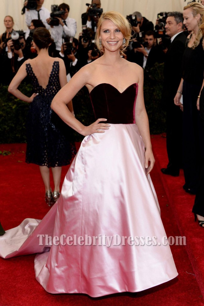 Claire Danes Satin Formal Dress Ball Gown 2014 Met Costume Institute Gala  TheCelebrityDresses