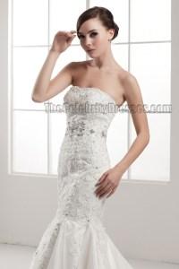 Elegant Strapless Mermaid Lace Up Beaded Wedding Dresses ...