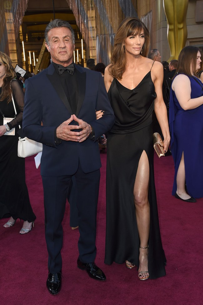 Jennifer Flavin 88th Annual Academy Awards Black Vneck