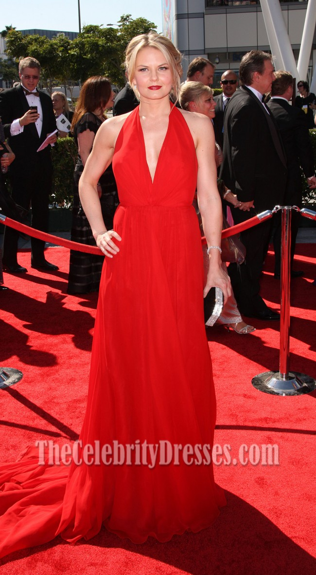 Jennifer Morrison Red Chiffon Prom Dress 2012 Creative