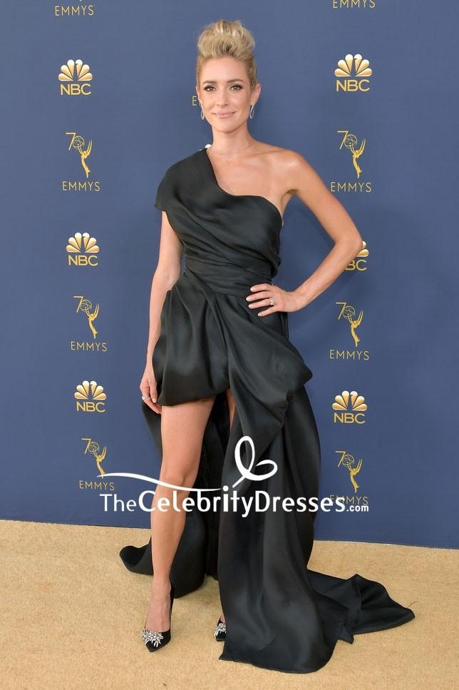 Kristin Cavallari 2018 Emmys One Shoulder Black High Low