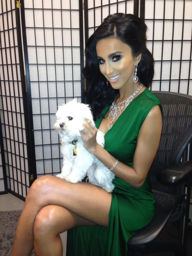 Lilly Ghalichi Sexy Green VNeck Backless Evening Dresses