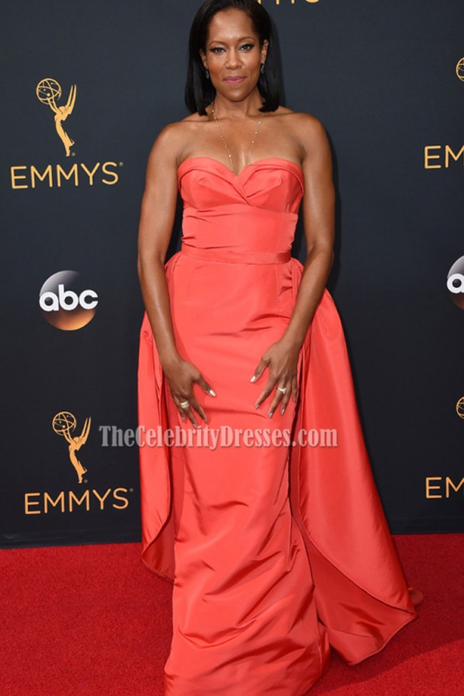 Regina King Sexy Strapless Evening Prom Gown 2016 Emmy