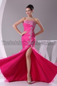 Fuchsia Strapless Mermaid Formal Dress Evening Gown ...