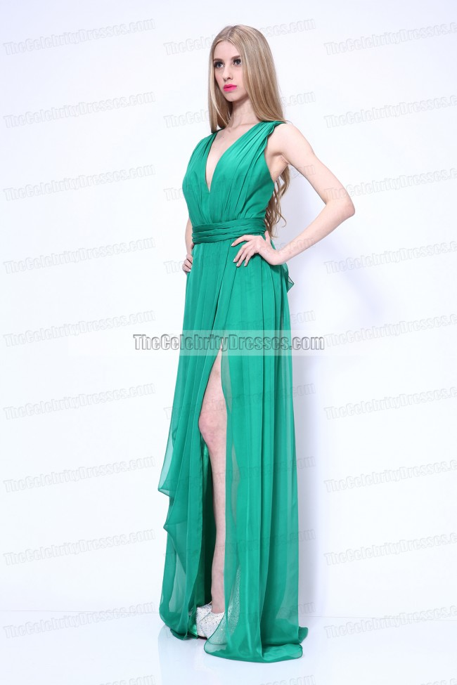 Celebrity Dresses Charlene Choi Green Prom Gown Evening Dress Venice Film Festival 2011