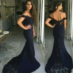 Off the Shoulder Mermaid Evening Dresses