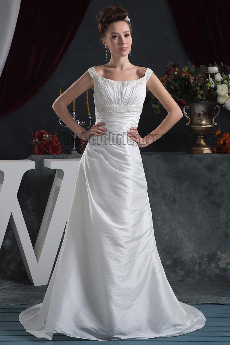Discount SheathColumn Beaded Bridal Gown Wedding Dress  TheCelebrityDresses