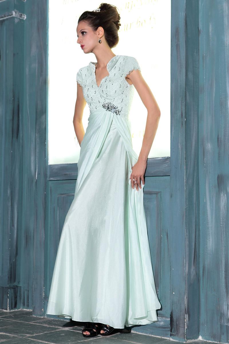 Elegant Beaded Floor Length Formal Dress Evening Dresses