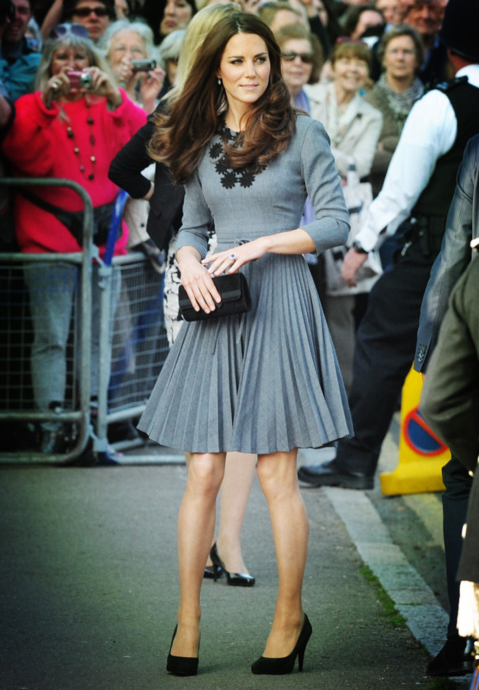 Kate Middleton Inspired Gray Short Party Cocktail Dress  TheCelebrityDresses